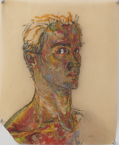 Untitled II, 1980, Oil pastel and graphite on vellum