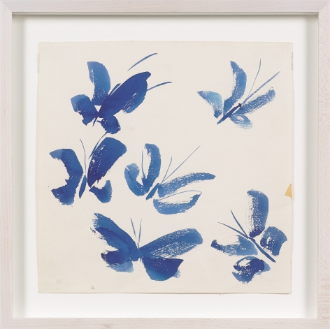 Untitled, from the Butterflies series, c. 1977, Watercolor on paper