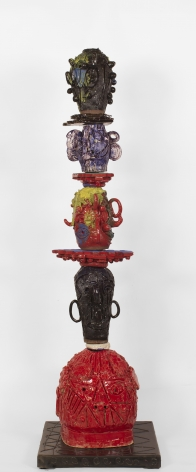 William J. O'Brien, Untitled, 2014, Glazed ceramic and steel
