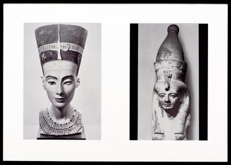 Miscegenated Family Album (Sibling Rivalry) L: Nefertiti; R: Nefertiti's sister, Mutnedjmet, 1980/1994, Cibachrome prints, 26h x 37w in (66.04h x 93.98w cm)
