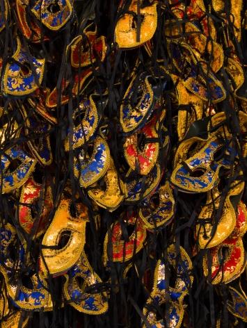 Masks, 2016, detail, Mixed media