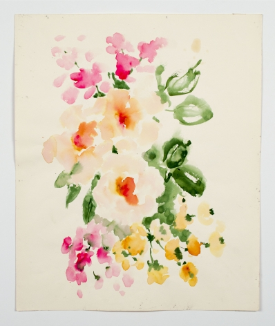 "Tea Roses, from the ""Florals"" series [006], c. 1980, Watercolor On Paper"