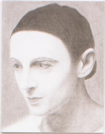 Self Portrait as Pierrot Nadar, 2005, Ink on panel