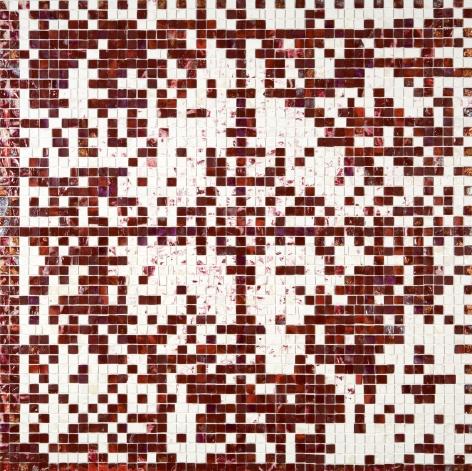E-Stamp III (Red Velvet: For Marcia Tucker), 2007, Acrylic on Canvas
