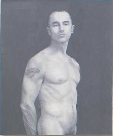Self Portrait with Dagmar Tattoo, 2005, Oil on linen