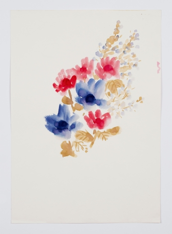 Untitled, from the Florals series, c. 1977, Watercolor on paper
