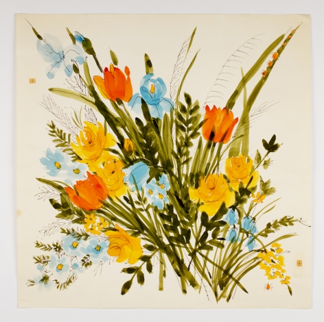 "Mixed Bouquet, from the ""Florals"" series [002], c. 1978, Watercolor On Paper"