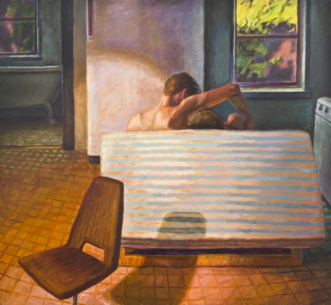 Futon Couch, 1991, Oil on canvas