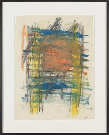 Untitled (LP), 1961, Pencil and liquitex on paper