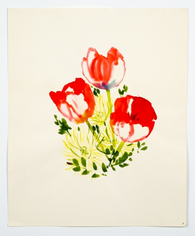 "Untitled, from the ""Florals"" series [005], c. 1977, Watercolor on paper"