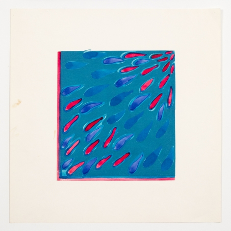 Untitled, from the Abstractsseries, 1977, Watercolor on paper