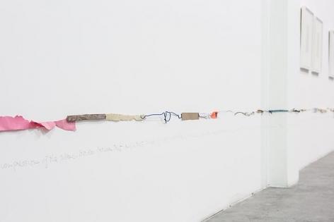 Luis Camnitzer, Two Parallel Lines (1976-2010), installation view, Satellite, Dubai (2013)