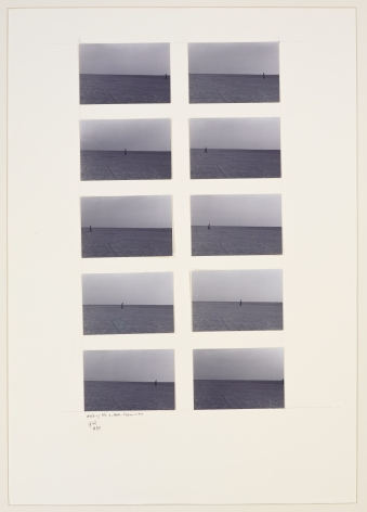 Walking No. 3, 1983, Photographs on paperboard in 10 parts