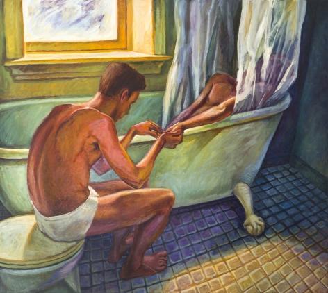 Bath Curtain, 1992, Oil on canvas