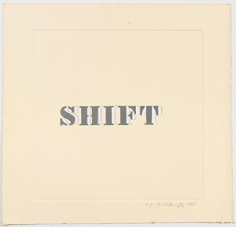 Luis Camnitzer; Shift (1968)