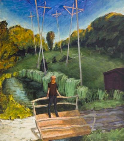 Telephone Poles, 1991, Oil On Canvas