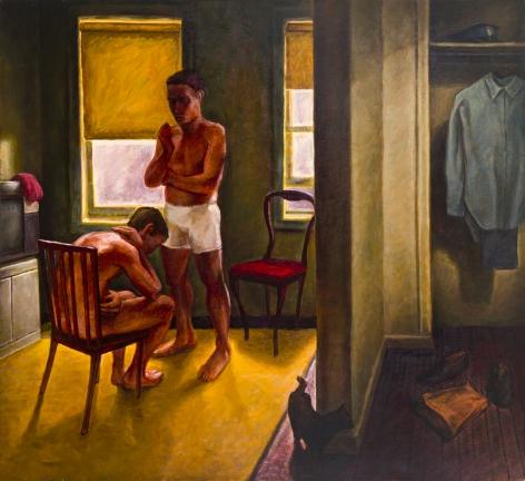Blue Uniform, 1991, Oil on canvas