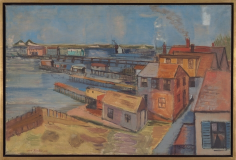 View of Bay, Provincetown, 1931, Oil on canvas