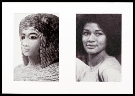 Miscegenated Family Album (Sisters II), L: Nefertiti's daughter Merytaten; R: Devonia's daughter, 1980/1994, Cibachrome print, 26h x 37w in (66.04h x 93.98w cm)