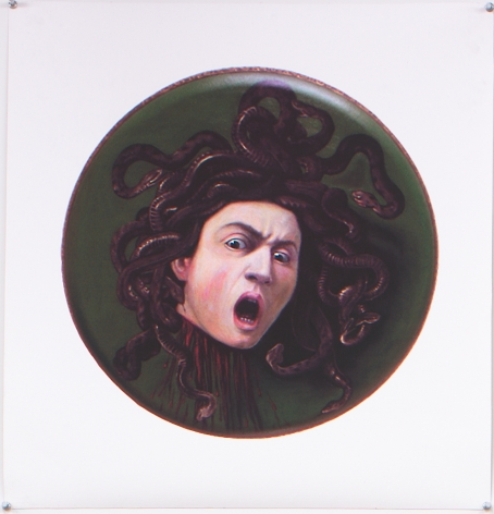 "Self Portrait after Caravaggio's ""Medusa"", 2005, Archival digital print on canvas, 23h x 22w in (58.42h x 55.88w cm)"