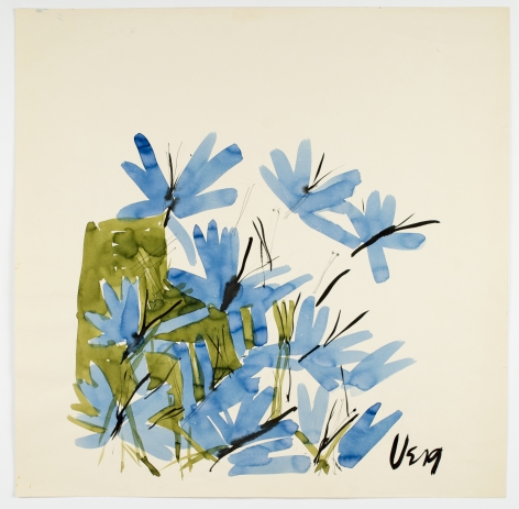 "Riverbank, from the ""Florals"" series [003], c. 1971, Watercolor On Paper"
