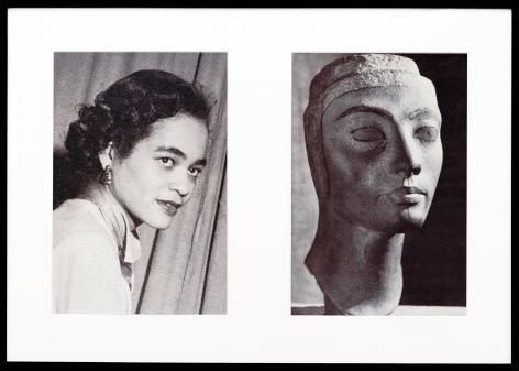 Miscegenated Family Album (Progress of Queens), L: Devonia, age 36; R: Nefertiti, age 36, 1980/1994, Cibachrome print, 26h x 37w in (66.04h x 93.98w cm)