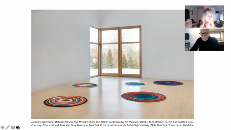 Harmony Hammond in conversation with Amy Smith-Stewart, senior curator at The Aldrich Contemporary Art Museum, Ridgefield, CT (2020).