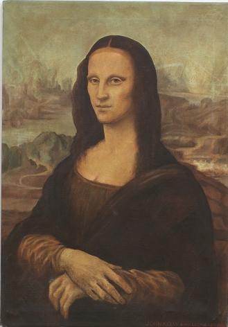 Self Portrait after Dopo Leonardo, 1996, Oil On Canvas