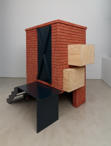 Tomb for Sacco and Vanzetti, 2009, Brick, wood, paint