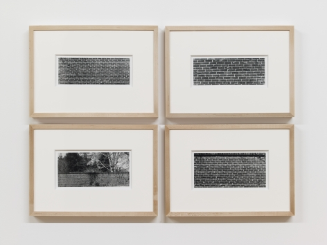 Bricks, 1974/2012Fiber prints in 4 parts; 12.75h x 10w in (32.39h x 45.42w cm) eachEdition of 8 with 1 AP