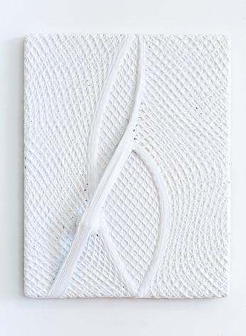 Alexandre da Cunha, Net I, 2014, Vest, golf ball and acrylic on canvas