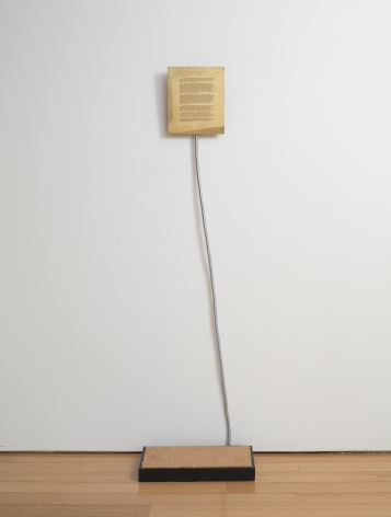 Sifter (The Mechanism for Killing a Spectator), 1978, Brass, flexible metal tube, platform