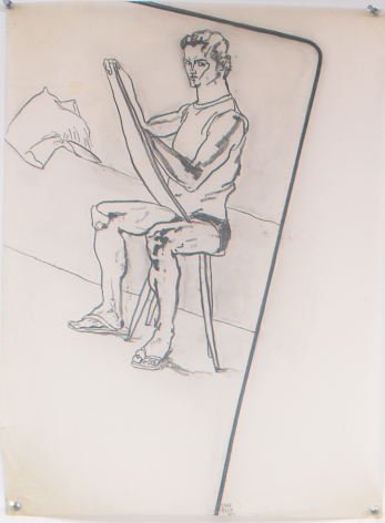 Self Portrait I, 1980, Graphite on Vellum