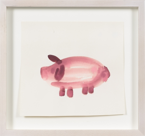 Untitled, from the Animals series, n.d., Watercolor on paper