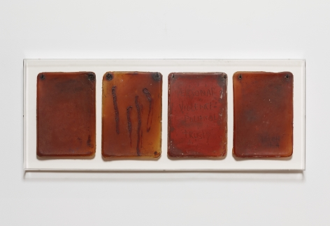 Flesh Journal #2, 1993, Acrylic On Latex
