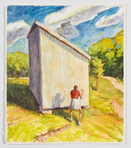 Shadow Box II, 1991, Oil on gessoed paper