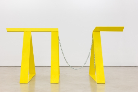 Ntrytry, 1981, Painted welded steel and chain