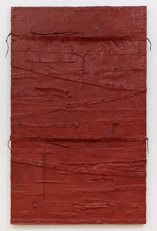 Red Bed, 2011, Oil and mixed media on canvas