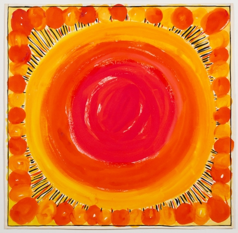 Sun Spots, from the Abstractsseries, n.d., Watercolor and ink on paper