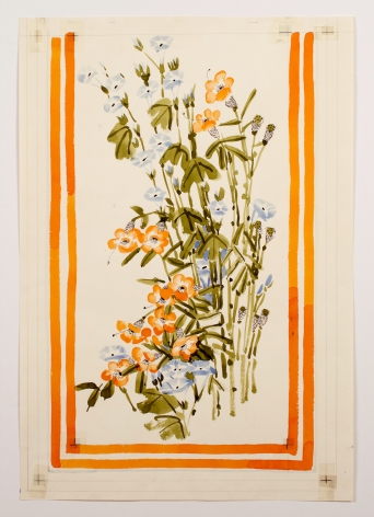 "Untitled, from the ""Florals"" series [015], c. 1975, Watercolor On Paper"