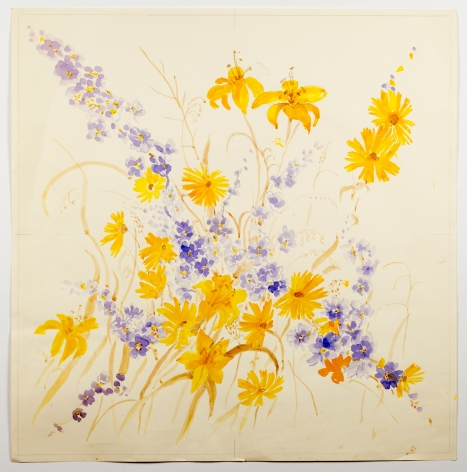 Untitled, from the Floralsseries, n.d., Watercolor on paper