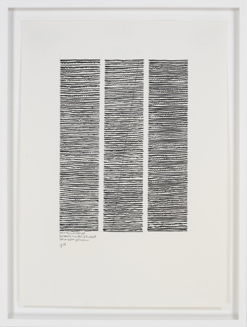Wave-like and Straight Horizontal No. 1-3, 2007, Ink on paper