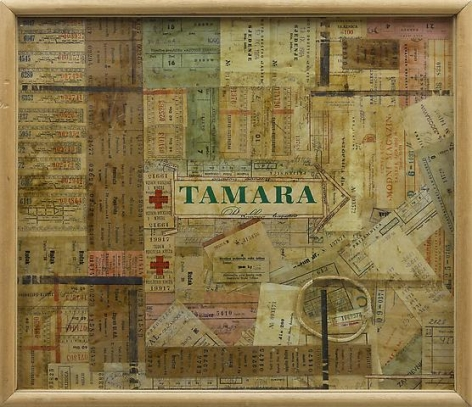 Tamara (1964) Mixed media collage