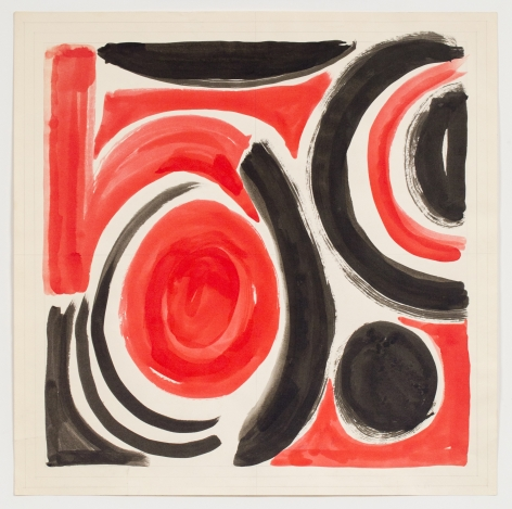 Untitled, from the Abstractsseries, 1981, Watercolor and ink on paper