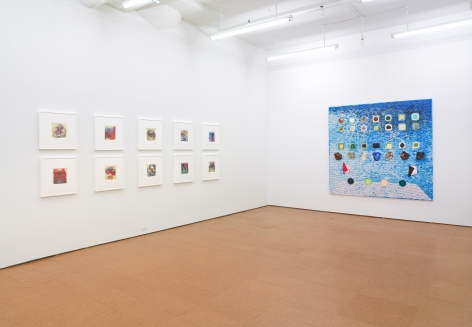 Jack Whitten, Installation view, Alexander Gray Associates, 2011