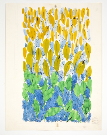 Untitled, from the Leaves series, n.d., Watercolor and ink on paper