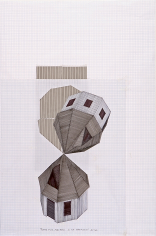 Tomb for Adorno, 2012, Mixed media on paper