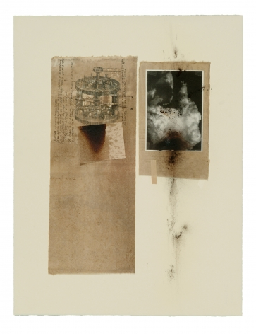 Untitled, 2003 Transfer, oil, ink, Kassel earth pigment, laser print and handmadepaperon cardboard