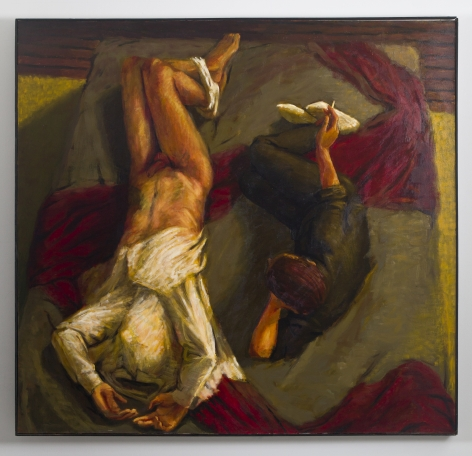 Grey Mattress, 1988, Oil on canvas