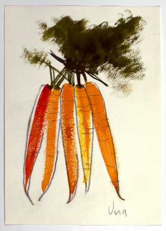 Untitled, from the Vegetables series, n.d., Watercolor and graphite on paper